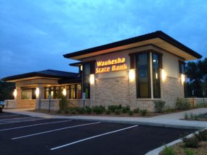 AG Architecture Waukesha State Bank Retail Exterior Front Entrance