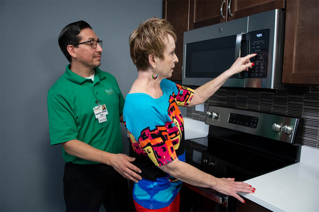 Smith crossing Activities of Daily Living kitchen for therapy and rehabilitation